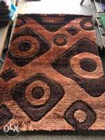 brown design fluffy centre rugs 4 by 6 Made in Turkey