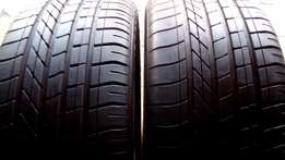 Set of 6 series BMW 19 inches Run flat Tyres for sell