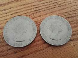 Coins - 2 x 1965 Churchill Crowns. Take both R50!