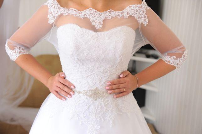 81c8260454 Suknia ślubna Agnes+dodatki - OKAZJA Olsztyn - image 1