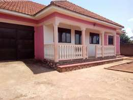 A stand alone 3bedroom house in kira at 1m