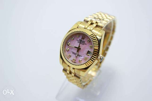 Datejust Gold pink For women ساعة حريمي