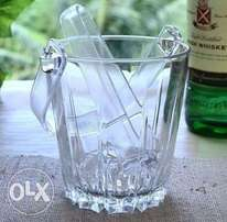 Karat Glass Ice Bucket + Tongs