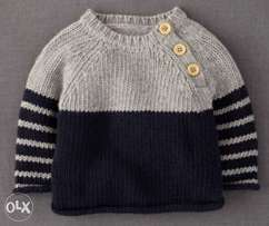Knitted kids sweaters