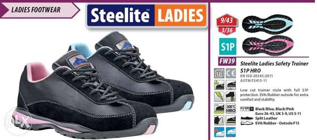 Steelite Ladies Safety Trainer S1P HRO Safety Shoes
