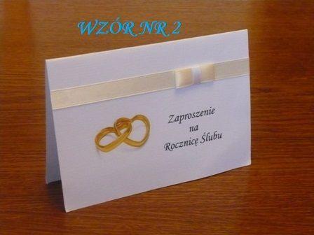 Zaproszenia Na Rocznicę ślubu I Winietki Komplet Jeden Wzór Wybór