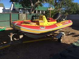 Rubberduck 4.2m with 70 yamaha Engine, used for sale  Worcester