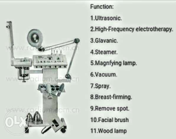 High frequency facial steamer magnifier