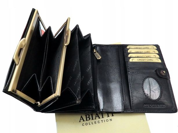 7fd9df33a86b5 Skórzany portfel damski ABIATTI -50% ! PORTMONETKA skóra naturalna !!  Bielsko-Biała