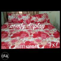 RED Bedsheet with 4 Pillowcases