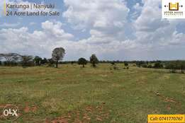 Land for Sale in Nanyuki - 24 Acres Kariunga