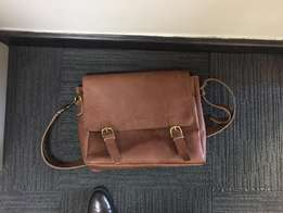 A quality leather laptop bag