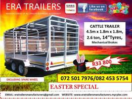 4.5m cattle Trailer