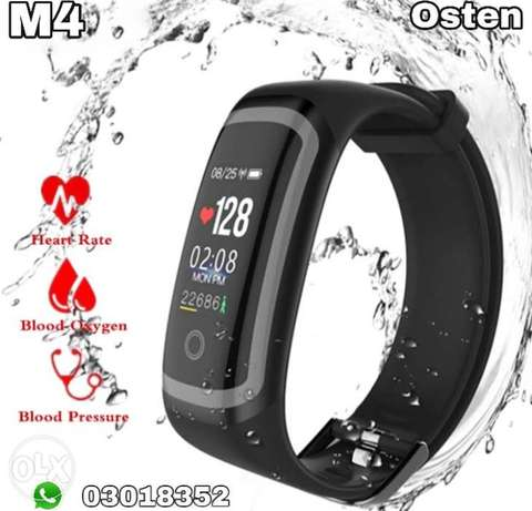 M4 Sport Fitness Tracker Smart Heart Rate Monitor Bracelet Calories Wa