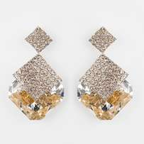 Crystal Luxury Sparkling Gold Drop Earrings