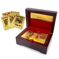 EXQUISITE 24k Gold plated Playing Cards with Certificate of Authentici