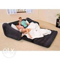 Inflatable double pullout sofa chair