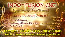 Live band uptempo for shows hurdee Wedding parties