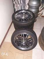Tyres velocity and mags set 205/40 R17inch