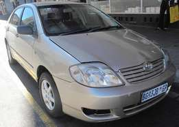 Toyota Corolla GLE 1.4i for sale, 2006 Model, (R49999) Negotiable