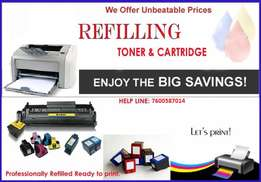 All Printer Toners & Cartridges Sales & Refilling.