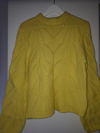 Musztardowy żółty sweter tally weijl