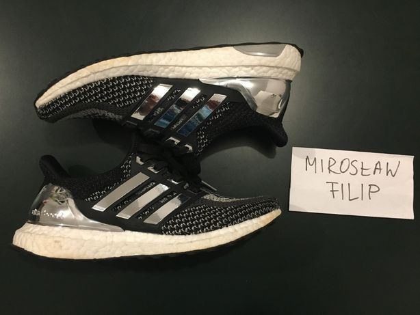 f5d783d56a2 Adidas Ultra Boost 2.0 Silver Medal + Boosted Stripes US 7 EUR 40 Kraków -  image