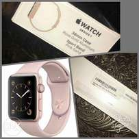 Apple Watch Series 1 38mm Rose Gold aluminum with Pink Sand Sport Band