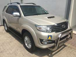 2015 Toyota Fortuner 3.0 D4D R/B, Gold, 74 000km, R389 950