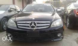 Extra clean foreign used Black 2009 model Mercedes Benz C- CLASS
