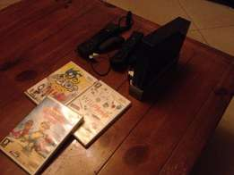 Nintendo Wii Black with Controllers, Nunchucks and 3 Games