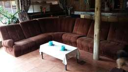 Dark Brown corner lounge suite for sale