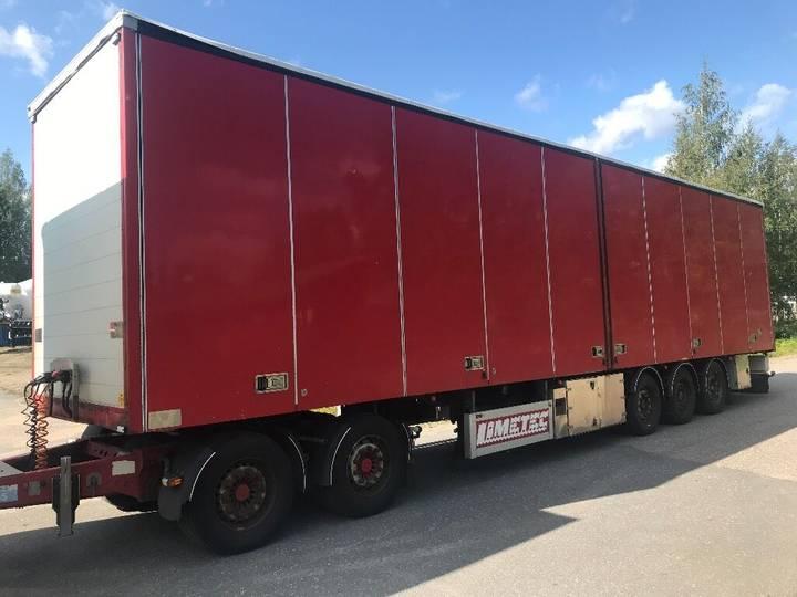 Limetec puoliperävaunu sivuovilla closed box semi-trailer - 2019
