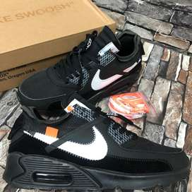946f58b435d Nike airmax 90 x off white mens sneakers black