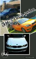Bmw 330CI M+ Ford Focus ST+ Golf V GTI( all 3 for 1 price )