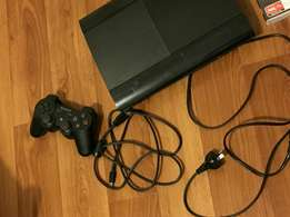 Sony ps3 super slim console still as brand new includes all cables 1 w