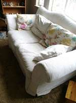 Bargain2 large couches extra long length.Washable covers.Cushions . Go