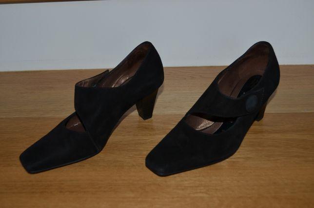 on sale 7c246 1d21b Czółenka buty 2,5 35 peter kaiser czarne zamszowe skórzane ...