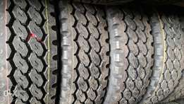 265/70R19.5 brand new Bridgestone tyres made in Japan. Tubeless