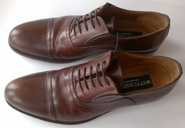 e3b10638 buty męskie WITTCHEN ciemny brąz skóra naturalna 41 - jak nowe