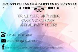 Cakes,cupcakes and party supplies