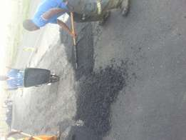Tar surfacing and potholes