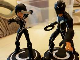 Disney Infinity Tron & Quorra Characters + 4 Power Disks for sale