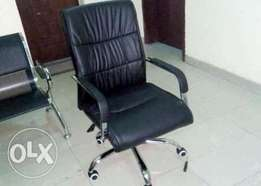 WGS Office Exotic Leather Swivel Chair (New)