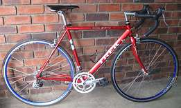 Trek road bike fully serviced with 54cm frame, Shimano components.