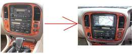 90series: Dvd conversion fascia kit: For Toyota Landcruiser VX: 8500