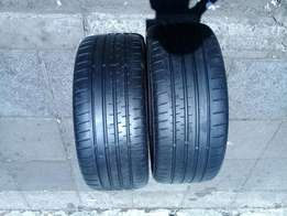 2 x continental tyres 225/40/18