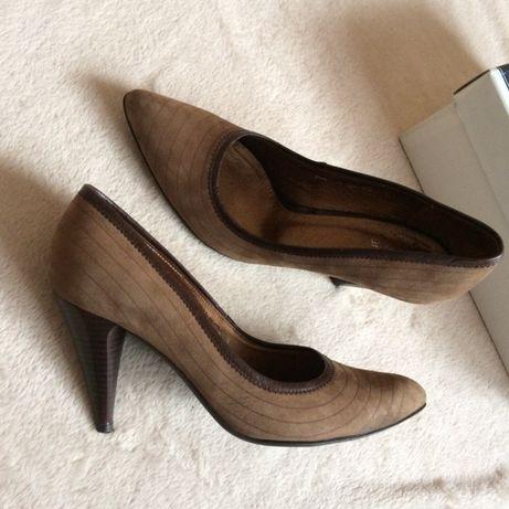 bd7032747a23a Śliczne brązowe buty damskie skóra 38 czółenka szpilki zara guess Next  Warszawa - image 2