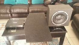 """Car Sound for Sale_1x Amp, 1x 12"""" Sub Boxed & 2x 6X9s with back board"""