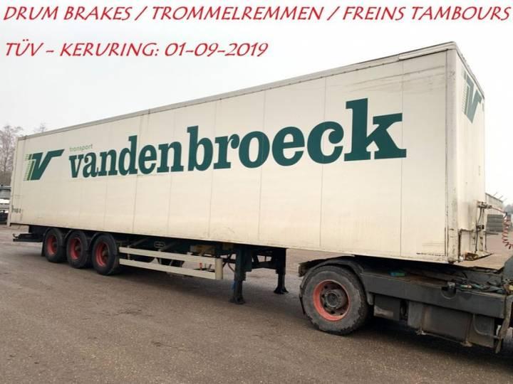 Van Hool 3-AS GESLOTEN BAK - CLOSED BOX - CAISSE FERMEE - BPW - - 1996